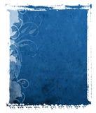 De Blauwe Achtergrond van de polaroid- Overdracht Stock Afbeelding