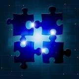 De Blauwe Achtergrond van de raadselverbinding Royalty-vrije Stock Fotografie