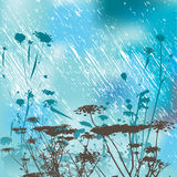 De blauwe Achtergrond van de Regen Royalty-vrije Stock Afbeeldingen
