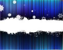 De blauwe achtergrond van de sneeuw Stock Fotografie