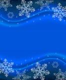 De blauwe Achtergrond van de Sneeuwvlok Royalty-vrije Stock Fotografie
