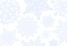 De blauwe Achtergrond van de Sneeuwvlok stock illustratie
