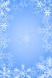 De blauwe achtergrond van de sneeuwvlok Stock Fotografie