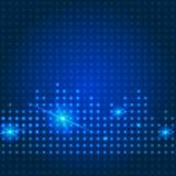 De blauwe achtergrond van de technologiestad Stock Fotografie