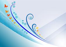 De blauwe Achtergrond van de Tuin Royalty-vrije Stock Fotografie