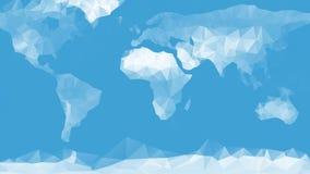 De blauwe achtergrond van de wereldkaart Royalty-vrije Stock Afbeeldingen