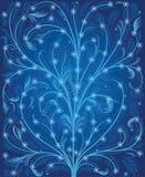 De blauwe achtergrond van de winter Royalty-vrije Stock Afbeeldingen
