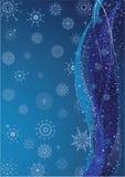 De blauwe Achtergrond van de Winter Royalty-vrije Stock Foto's