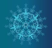 De blauwe achtergrond van de winter Stock Fotografie