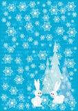 De blauwe achtergrond van de winterKerstmis Stock Foto's
