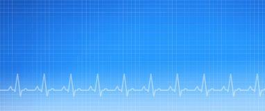 De blauwe Achtergrond van de electrocardiogram Medische Grafiek stock afbeeldingen