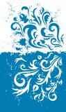 De blauwe achtergrond van Grunge Royalty-vrije Stock Afbeeldingen