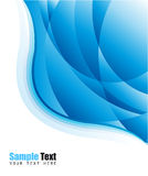 De blauwe Achtergrond van het Adreskaartje Stock Afbeeldingen