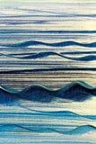 De blauwe Achtergrond van het Golvencanvas Royalty-vrije Stock Fotografie