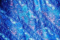De blauwe achtergrond van het de kunst abstracte behang van het stoffenpatroon Royalty-vrije Stock Foto