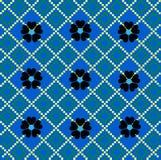 De blauwe achtergrond van het mozaïek Stock Afbeelding
