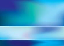 De blauwe achtergrond van het onduidelijk beeldnetwerk Stock Foto