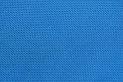 De blauwe achtergrond van de het patroontextuur van de zijdestof Weverstextiel Stock Foto