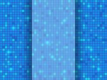 De blauwe achtergrond van het pixelmozaïek Vector illustratie Stock Foto's