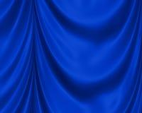 De blauwe Achtergrond van het Satijn Stock Foto's