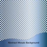De blauwe achtergrond van het staal abstracte mozaïek royalty-vrije illustratie