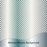 De blauwe achtergrond van het staal abstracte mozaïek stock illustratie