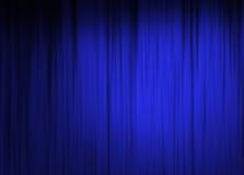 De blauwe achtergrond van het stadiumgordijn Stock Foto's