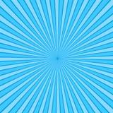 De blauwe achtergrond van het stralenpop-art retro grappige stijlvector illustrat stock illustratie