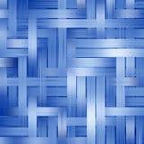 De blauwe achtergrond van het stroken abstracte patroon. Royalty-vrije Stock Afbeeldingen