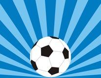 De blauwe achtergrond van het voetbal Stock Foto