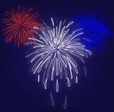 De Blauwe Achtergrond van het vuurwerk Royalty-vrije Stock Foto's