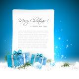De blauwe achtergrond van Kerstmis vector illustratie