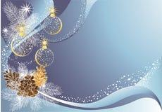 De blauwe achtergrond van Kerstmis Stock Afbeelding