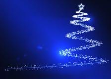 De blauwe Achtergrond van Kerstmis Royalty-vrije Stock Foto