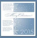 De blauwe achtergrond van Kerstmis met sneeuwvlokken Stock Afbeeldingen