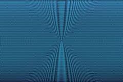 De blauwe achtergrond van neon halftone absract Hypnotic optische illusietextuur Glitch effect patroon stock illustratie