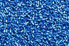 De blauwe achtergrond van plastic harsmasterbatch Stock Afbeelding