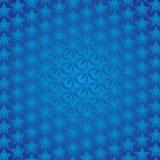 De blauwe Achtergrond van Sterren Stock Afbeelding