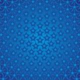 De blauwe Achtergrond van Sterren Stock Fotografie