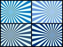 [De Blauwe] Achtergrond van stralen Stock Afbeelding