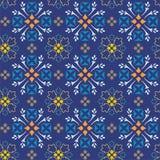 De blauwe achtergrond van takjes en bladeren, Stock Afbeeldingen