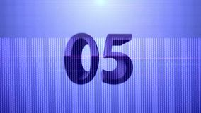 de blauwe aftelprocedure van de 10 secondentechnologie stock illustratie