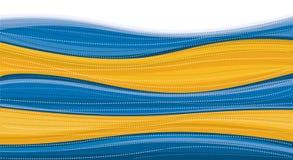 De blauwe & Gouden Achtergrond van de Werveling Vector Illustratie