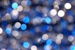 De blauwe & Zilveren Achtergrond van het Onduidelijke beeld Royalty-vrije Stock Foto