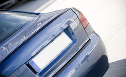 De blauwe Auto van de Familie Stock Afbeeldingen