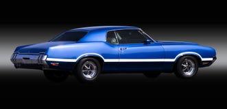 De blauwe Auto van de Spier stock foto's