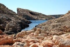 De blauwe Baai van de Lagune Royalty-vrije Stock Fotografie