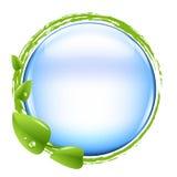 De blauwe Bal en Groen doorbladert vector illustratie