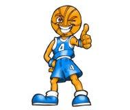 De blauwe bal van de teammand Stock Foto's