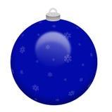 De blauwe Bal van Kerstmis Royalty-vrije Stock Foto's